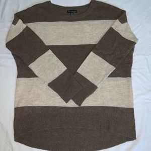 Brown and Cream Striped Sweater